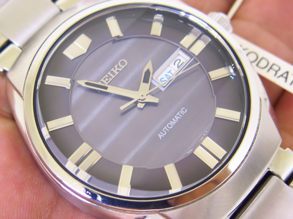 SEIKO JUMBO GREY DIAL PRISM GLASS - AUTOMATIC