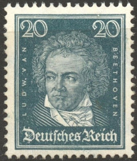 Germany 1926, Famous Germans, 20 Pf. Beethoven