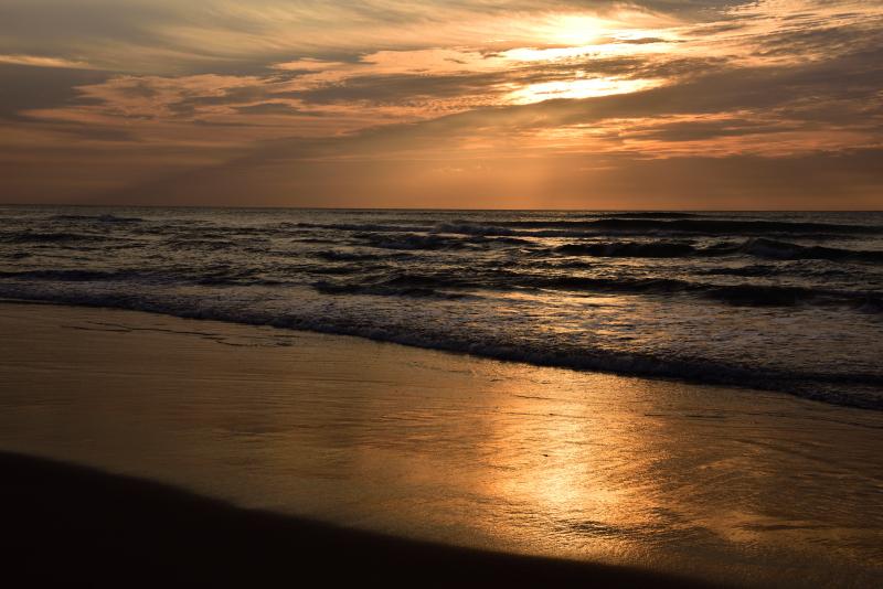 白尾海岸の夕焼け