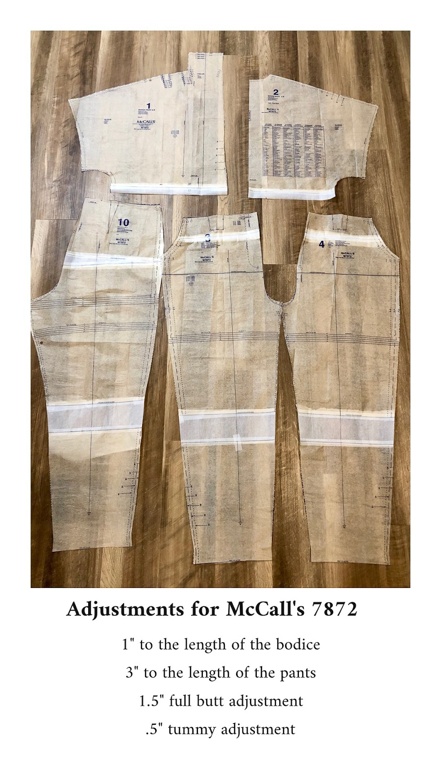 McCall's 7872 - Pattern Alterations - Erica Bunker DIY Style!