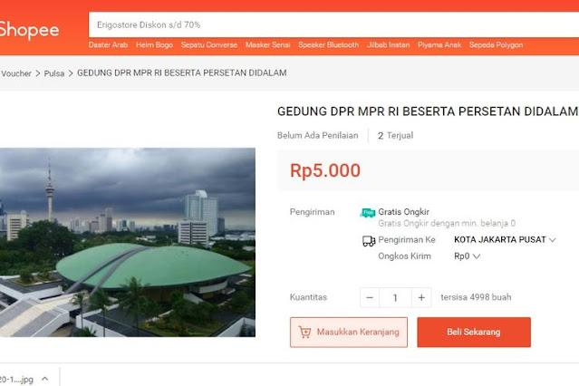 Gedung DPR dan Seisinya Dijual Seharga Rp 5000, Sekjen Geram: Polisi Harus Bertindak Tegas!