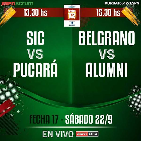 Belgrano - Alumni (en vivo, URBA Top 12, ESPN Extra)