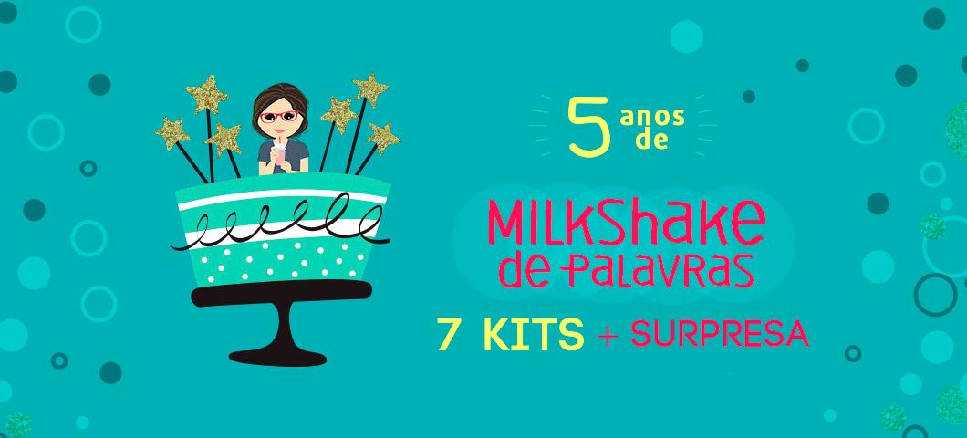Promoção 5 anos do blog Milkshake de Palavras: Concorra a kits recheados com livros e marcadores