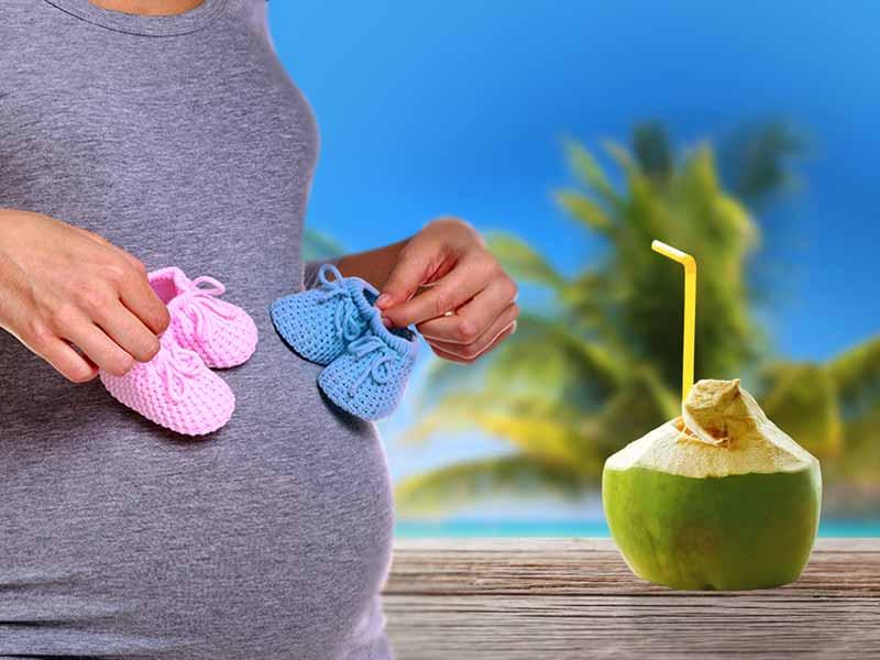 12 Possíveis Benefícios da Água de Coco Durante a Gravidez