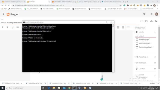 Creating fargate clsuter file