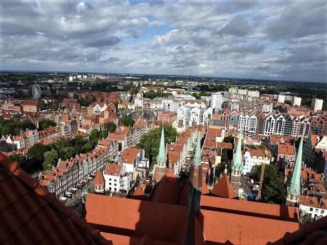 panorama dalla terrazza della torre della basilica di danzica
