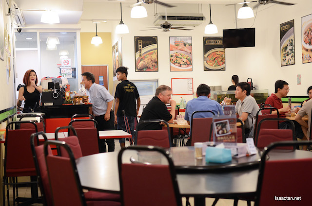 Crowded, yet still cooling with air-conditioned dining area