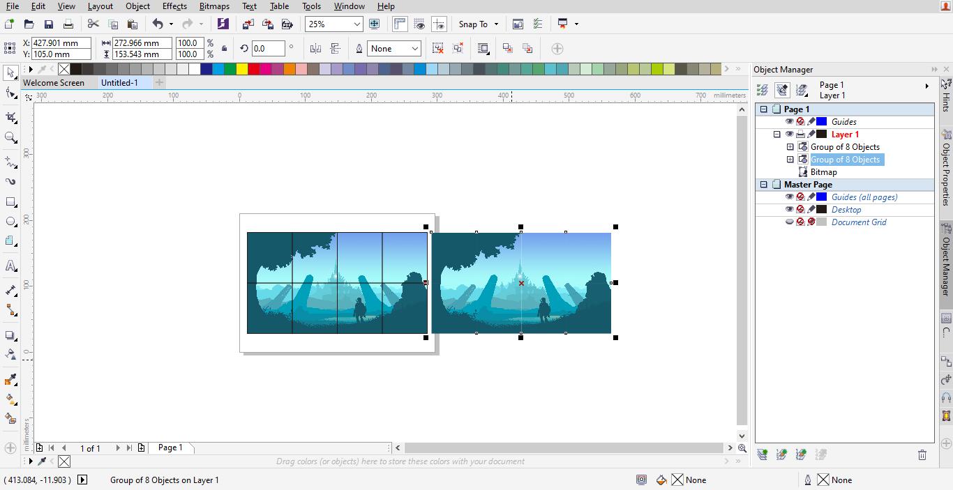 Cara Memotong Gambar Menjadi Beberapa Bagian di Corel Draw ...