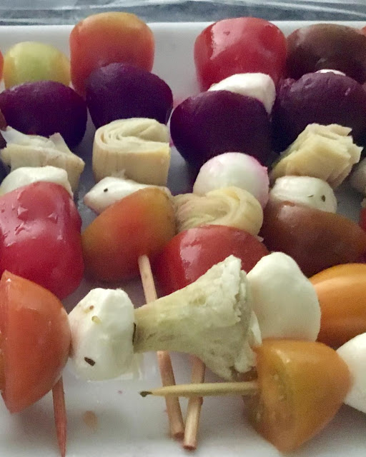 appetizers with vegetables