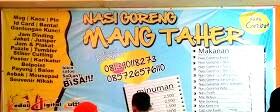 Menu Nasi Goreng Mang Taher
