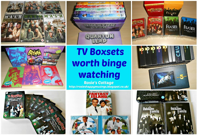 My 5 favourite things about Autumn/Fall:  Binge watching favourite box sets to forget about the chilly weather outside.