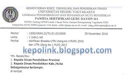 VERIFIKASI DATA UTN PLPG ULANG 1 DAN 3 TAHUN 2018
