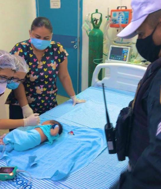 Policiais Militares salvam bebê engasgado em Mossoró, RN