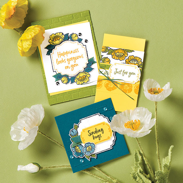 Tags in Bloom Stampin Up
