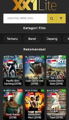 aplikasi download film xx1 lite
