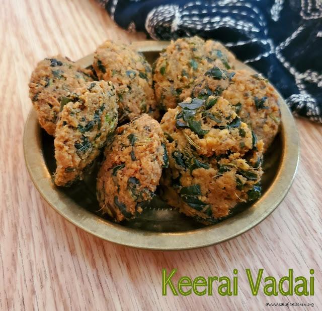 images of Keerai Vadai / Palak Vada /Spinach Vada/Keerai Vada
