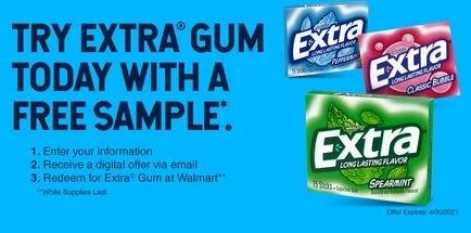 free extra gum sample