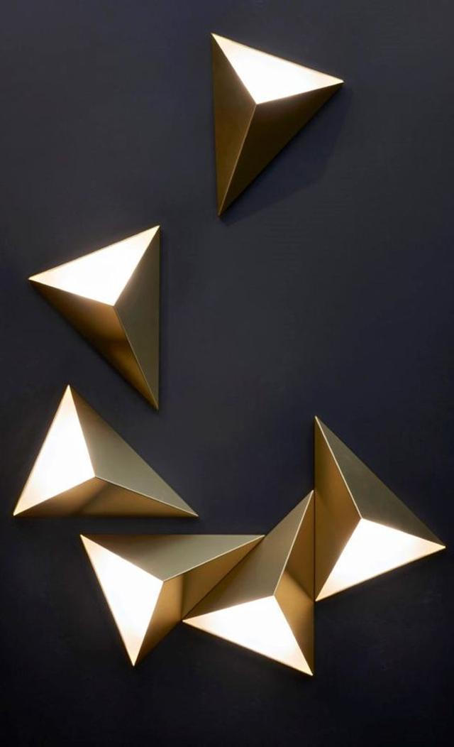 duvar dekorasyonu geometrik şekil