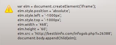 Codice presente nei metadati PNG