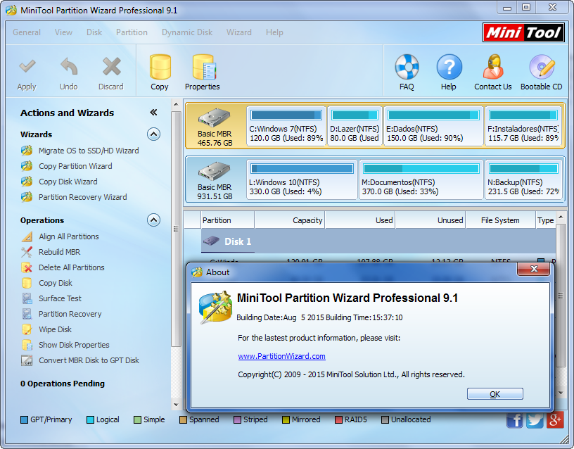 PARTITION PROFESSIONAL EDITION MINITOOL TÉLÉCHARGER 8.1 WIZARD PORTABLE