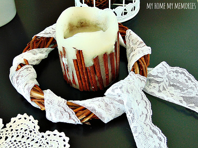 diy-wreath-with-lace-and-candle