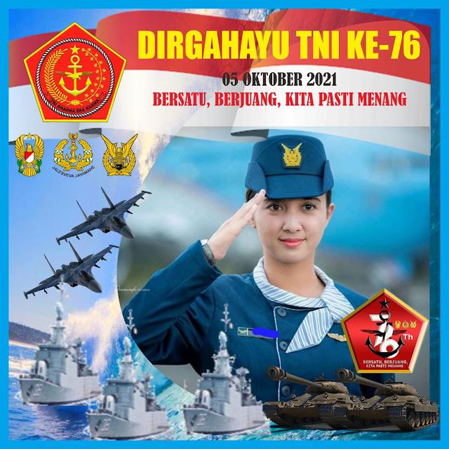 Link Twibbon HUT TNI 2021 ke-76 Terbaik