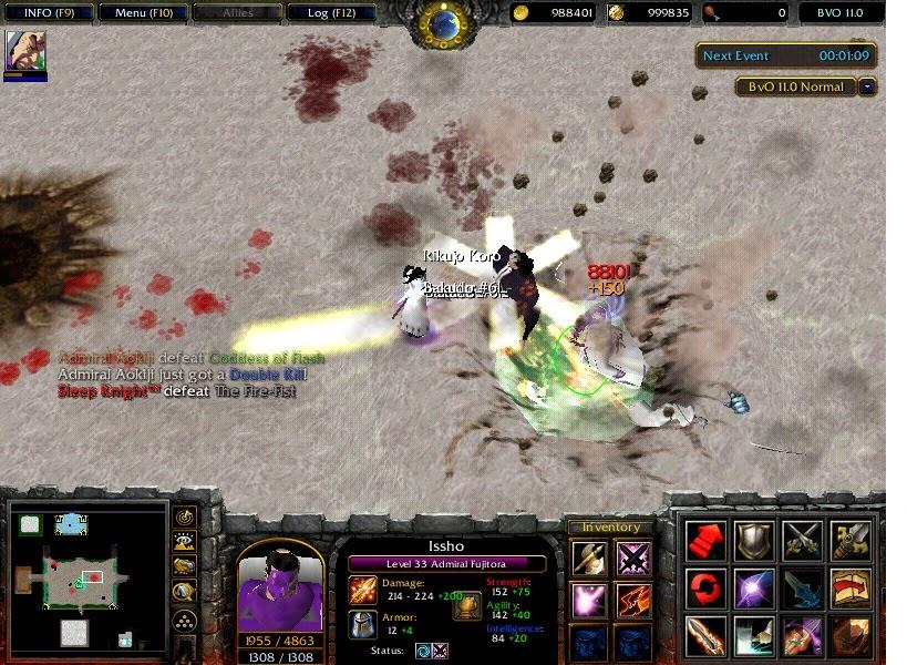 Map Warcraft Dota Bleach Vs Onepiece Vs Naruto V13