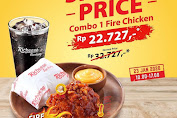 Promo Richeese Factory Special Price Combo Fire Chicken Rp22.727 Periode 23 Januari 2020