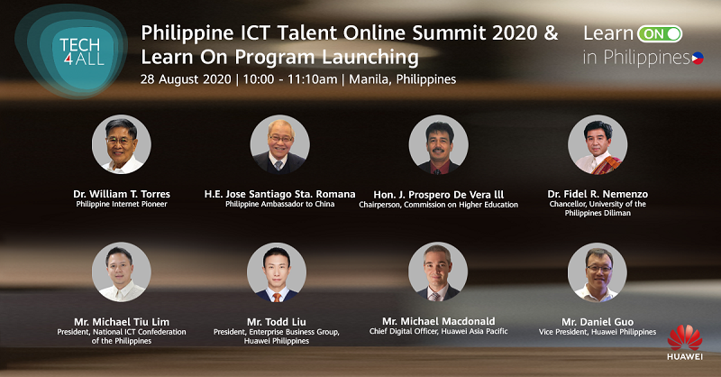 ICT professionals and Huawei executives joined the Philippines ICT Talent Online Summit