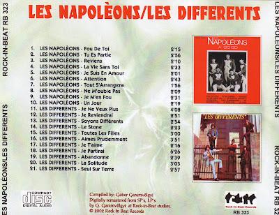 Les Napoleons - A Go Go (1966) & Les Differents - Les Differents (1967)