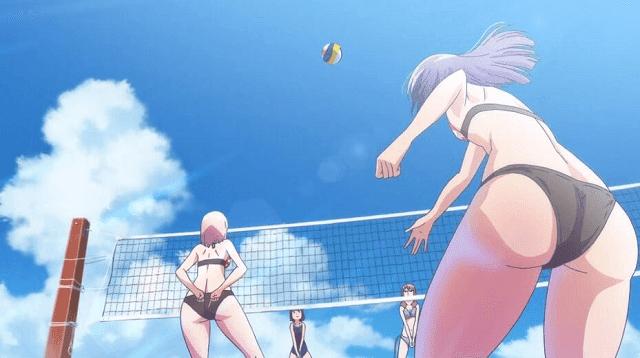 Banyak scene oppai dan bemper bergoyang di anime Harukana Receive