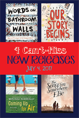 It appears that the July 4th holiday isn't the best day to release new books--I found very few this week. Here are four titles for tweens and teens worth a second look this week. Happy Independence Day!