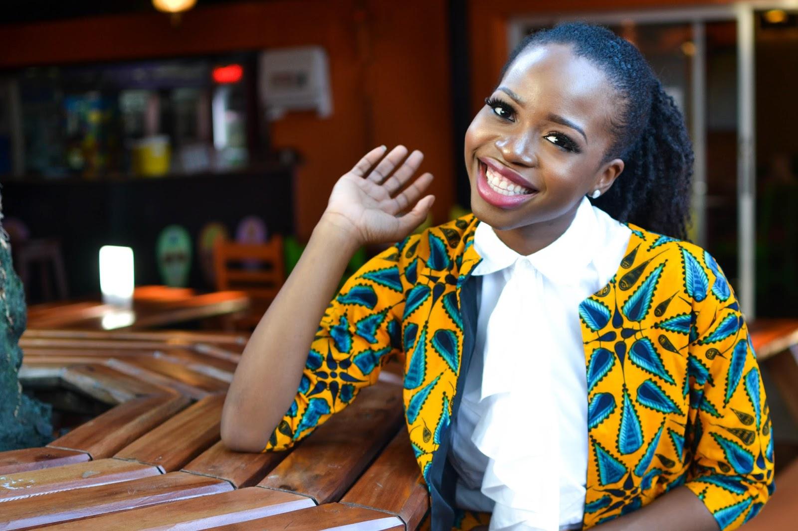 African Prints on a Pretty Black Fashion Blogger