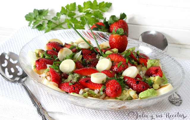 Ensalada de palmitos y fresas, Julia y sus recetas