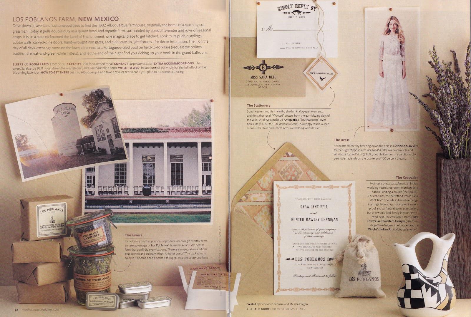 Martha Stewart Wedding Invitation: Antiquaria Invitations Featured In Martha Stewart Weddings