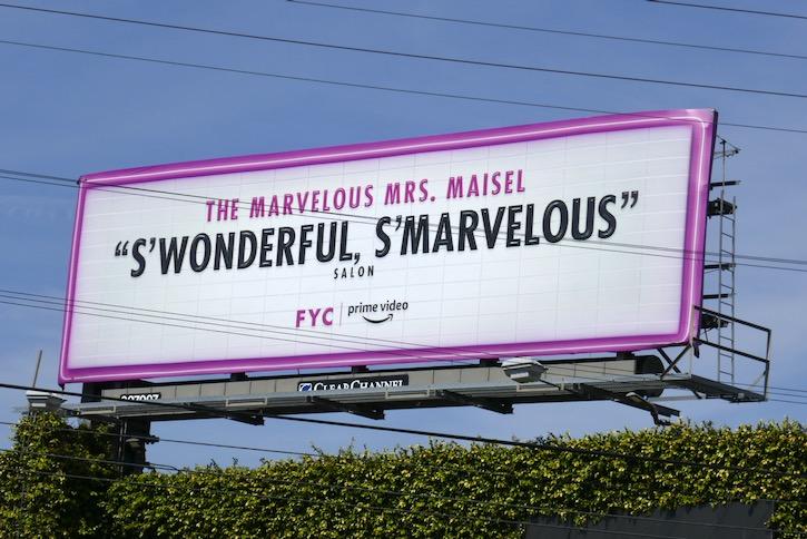 Mrs Maisel 2020 Emmy FYC billboard