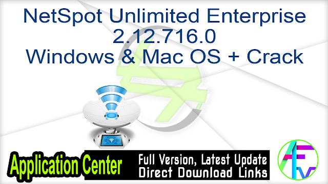 NetSpot Unlimited Enterprise 2.12.716.0 + Mac OS + Crack