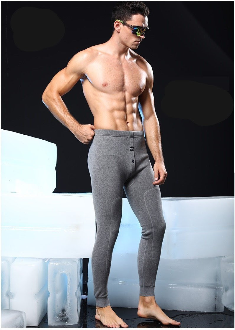 Men's Thick Cashmere Cotton Thermal Elastic Fit Underwear