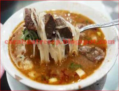 Foto Resep Sop Saudara Daging Sapi Khas Makassar, Sulawesi Selatan, Pangkep Sederhana Spesial Asli Enak