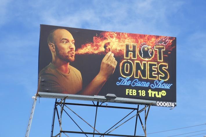 Hot Ones Game Show billboard