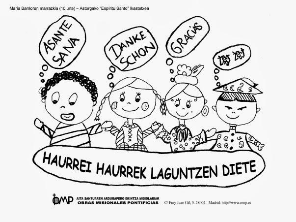 Las Misiones Y Los Niños Dibujos Para Colorear De Niños: Infancia Misionera Dibujos Para Colorear