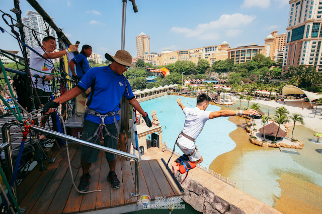 Sunway Lagoon Water Adventure Quest with Samsung Galaxy A8 & A8+ (2018) Bungy Jump Challenge at Sunway Lagoon Theme Park