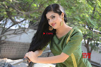 Akshitha cute beauty in Green Salwar at Satya Gang Movie Audio Success meet ~  Exclusive Galleries 038.jpg
