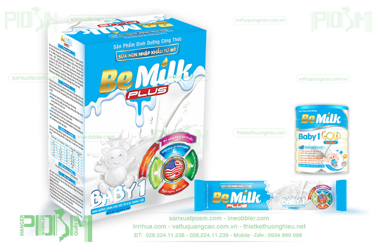 thiết kế bao bì sữa