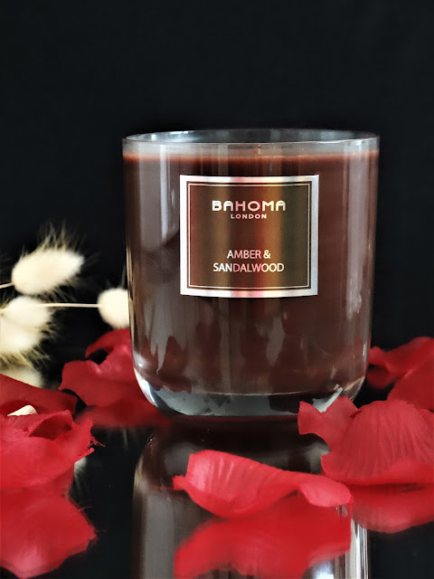 bougie à l'ambre, bougie de luxe, luxury scented candle, bahoma amber and sandalwood avis, bougies bahoma