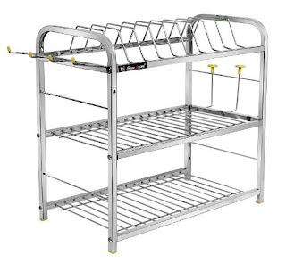 SLIMSHINE 3 Shelf Kitchen Dish Rack