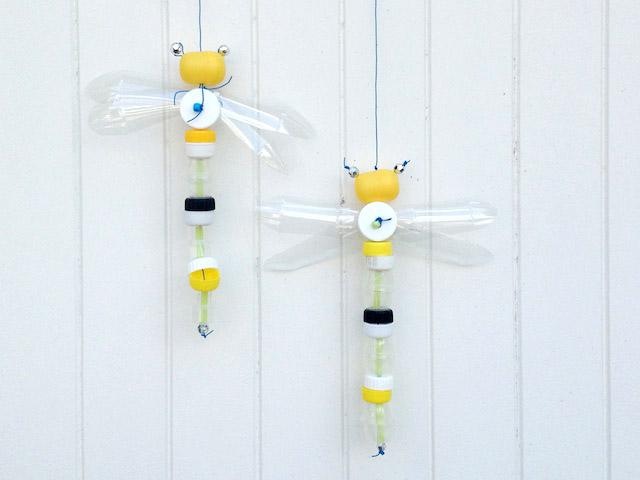 Schaeresteipapier Diy Tutorial Libelle Aus Flaschendeckeln