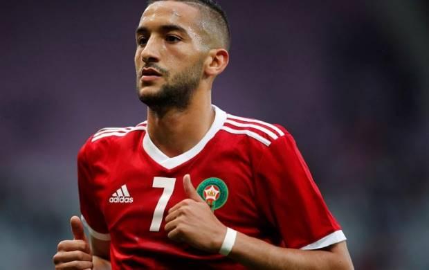 Hakim Ziyech Morocco striker
