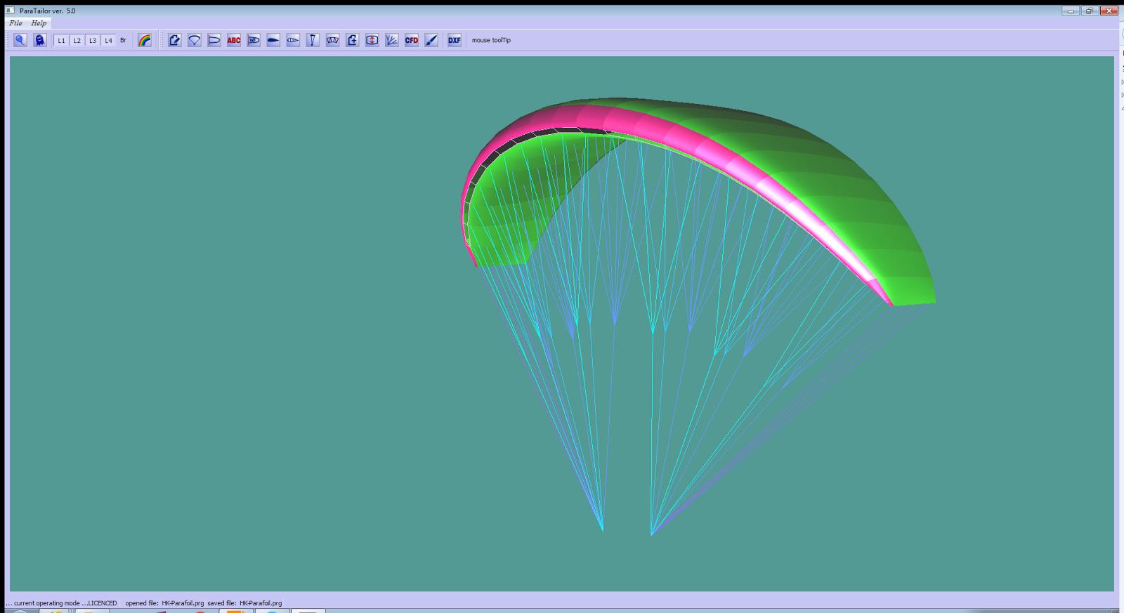 Paraglider Wing Design Software