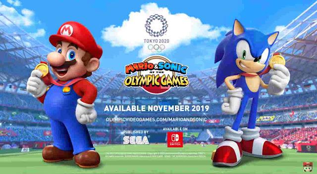 Game Mario & Sonic Sega Tokyo Olympic 2020 di Switch Akan Dirilis Bulan Novermber